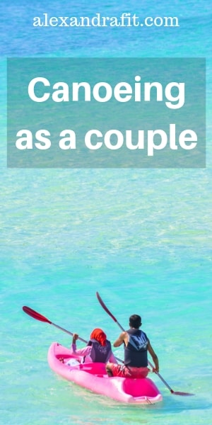 canoeing as a couple pin