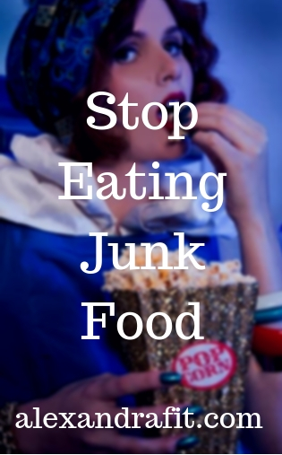 stop eating junk food pin